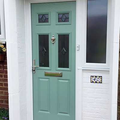 Chartwell Green composite entrance door