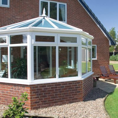 White uPVC victorian conservatory