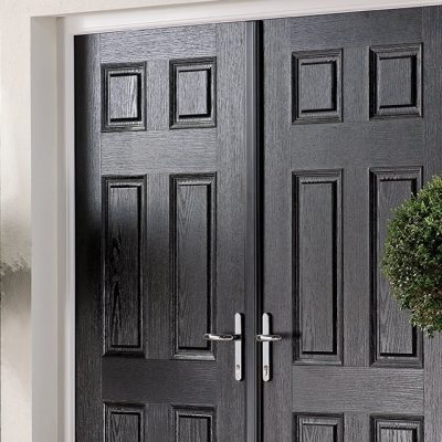 Black Double Door