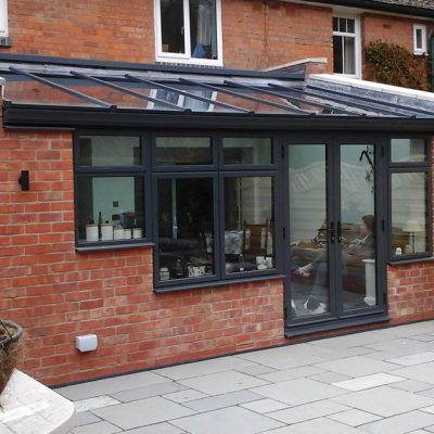 Grey Lean to Conservatory Roof