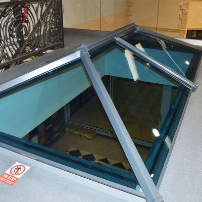 Modern Glazed Lantern Roof