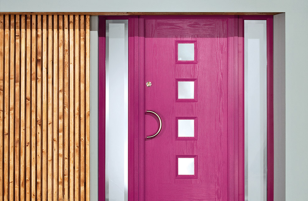 pink colour composite door